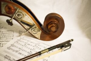 Instrument and a musical score